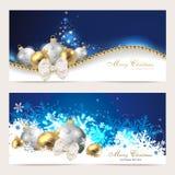 设置与圣诞卡 免版税库存图片
