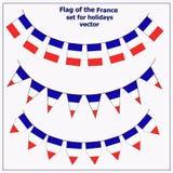 设置与旗子法国 皇族释放例证