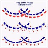 设置与旗子法国 向量例证