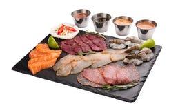 设置与泰国格栅的快餐成份 r 免版税库存照片