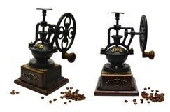 设置与老咖啡研磨机 免版税库存图片