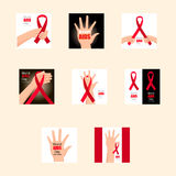 设置世界艾滋病日 12月1日 免版税库存图片