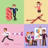 设置企业例证 工人和妇女 免版税库存图片
