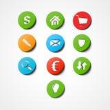 设置企业网象 免版税库存图片
