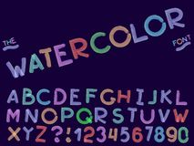 设置传染媒介摘要字体和字母表 库存例证