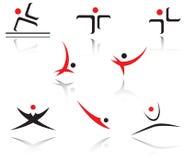 设置体育运动符号 库存例证