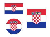 设置克罗地亚的旗子 库存例证