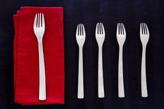 设置军用餐具叉子 免版税库存照片