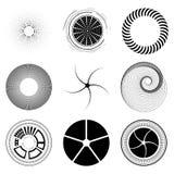 设置分数维和漩涡形状元素 向量例证
