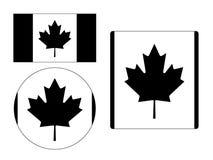 设置加拿大的旗子 向量例证
