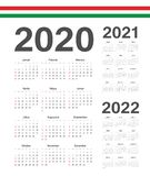设置匈牙利2020年2021年,2022年传染媒介日历 向量例证