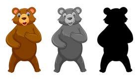 设置北美灰熊字符 库存例证