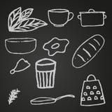 设置厨房项目 免版税库存照片
