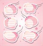 设置向量女婴空白标签 库存照片