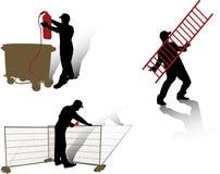 设置向量工作者 免版税库存照片