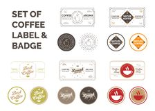 设置咖啡标签 皇族释放例证