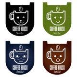设置咖啡象 免版税库存图片