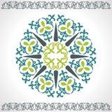 设置哈萨克人亚洲装饰品和样式 免版税库存图片