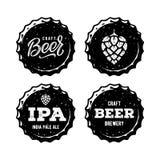 设置啤酒盖帽白色为啤酒议院 也corel凹道例证向量 向量例证