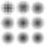 设置圈子作用半音光点图形,传染媒介创造流行艺术设计,可笑的光芒样式中间影调 皇族释放例证