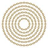 设置圈子框架由金黄链子做成 传染媒介模板例证 向量例证