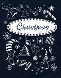 设置圣诞节图片 免版税库存照片