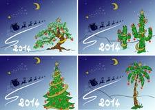 设置圣诞节明信片 免版税库存照片