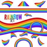 设置在另外形状的彩虹被隔绝 也corel凹道例证向量 向量例证