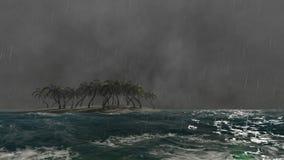 设置在多暴风雨的天气的美好的雷击 皇族释放例证