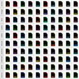 设置在平的样式的文件类型象 库存图片