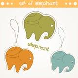 设置大象 免版税图库摄影