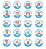 设置奖传染媒介象-传染媒介标志 向量例证