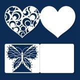 设置婚礼邀请订婚情人节问候假日卡片 免版税库存照片