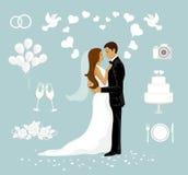 设置婚礼 库存照片
