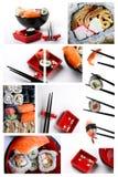 设置寿司 免版税库存照片