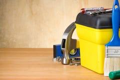 设置工具箱工具木 免版税图库摄影