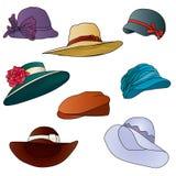 设置帽子传染媒介 免版税库存照片