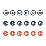 设置年龄制约标志 免版税图库摄影
