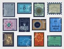 设置待售邮票。传染媒介 免版税库存照片