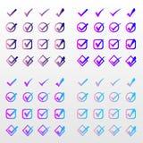 设置按钮标志颜色同意标志 免版税库存照片
