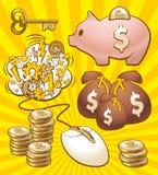 设置挣货币 皇族释放例证
