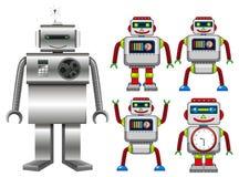 设置机器人玩具 皇族释放例证