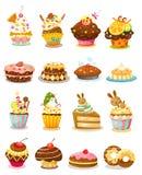设置杯形蛋糕 库存照片