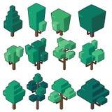 设置树的传染媒介例证在最小的等量设计的 图库摄影