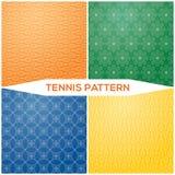 设置样式网球拍 免版税库存照片