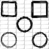 设置框架剪影,概述 皇族释放例证