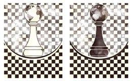设置棋抽象背景 库存图片