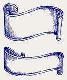 设置横幅和丝带 免版税库存照片