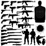 设置武器 免版税库存图片