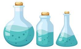 设置液体化学家样品 皇族释放例证